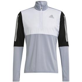adidas OWN The Run LS 1/2 Zip Shirt Men, grijs/zwart